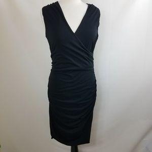 BODEN Sleeveless V Neck dress black